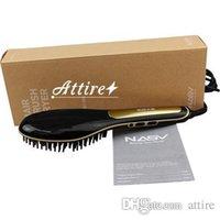 Cheap Original Beautiful Star Nasv hair straightener comb with Led Display 100-240V ceramic hair straightener Aramex free to Saudi Arabia