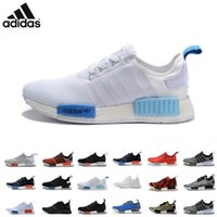athletic shoes brand - Adidas Original Adidas Originals NMD R1 W quot Blue Glow quot Shoes Mens Women s Athletic Running sneaker Shoes Running Shoe Brand Boost With Box