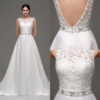 ans line - 2016 Cheap In Stock Wedding Dresses Bridal Gowns Chiffon Lace ans Sash Real Image under EM320