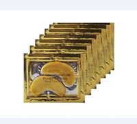 Wholesale 2016 Anti Wrinkle NEW Crystal Collagen Gold Powder Eye Mask Golden Mask stick to dark circles