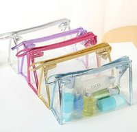 Wholesale Cosmetic Bags Womens Daily Transparent Travel Makeup Case Toiletry Wash Pouch TOP1350