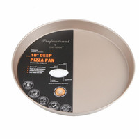 baking pizza temperature - Pizza Tray Golden Pizza Pan Deep Dish Circular Household Non stick Pan With Baking Oven High Temperature Resistant set