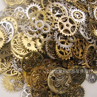 Wholesale Freeshipping g random Mixed Gear Charms Antique Bronze Steampunk Movement DIY Jewelry Charms