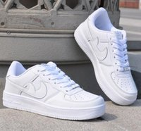 air drilling - New Hot Forceing One Men And Women Original Goods Quality Af1 High White With Air Drill Running Shoes Size