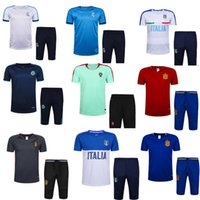 Wholesale New Men Soccer Jersey Football Clothing Paintless Summer Sportswear Set Male Breathable Soccer Football Jersey