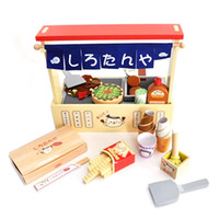 baby food combinations - New Arrived Mother Garden Strawberry Barbecue Stands Wooden Toys Combination Food Set Baby Child Kitchen Toys Gift
