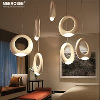 acrylic projects - New Arrival LED Chandelier Ring LED suspension light fixture Acrylic LED drop lustre for Home Decoration Hotel Project lamparas