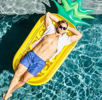 Wholesale 2016 New inch Giant Inflatable Pineapple Pool Floats Summer Swim Rings Water Rafts
