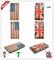 antique holster - 2016 new PU material USA UK Antique Scrub Country Retro National Flag Matte Holster Cover For iPhoneSE iPhone4S Iphone6 S Plus S7 s7 edge