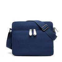 Wholesale Private custom new business casual male package pocket multifunctional Shoulder Messenger canvas bag casual bag