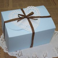 baked goods boxes - Size cm blue Cake Cookie Box Food Paper Baking Gift Chocolate Biscuit Snack Packaging Good Material Freeshipping