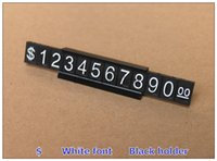 Wholesale Shop Dollar Price Display ABS Plastic Price Tag sets