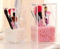 acrylic pencil box - Eyebrow Pencil Brush Box Acrylic Makeup Organizer Cosmetics Brush Case Without Pearls