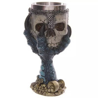 Wholesale Creative skull skull palm beer D solid stainless steel Knight goblet glass