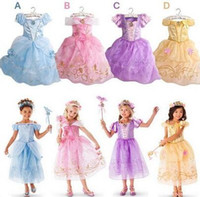 Wholesale Fashion girl Cinderella dress lolita clothing kids party chidren classic costume girls cosplay costumes princess clothes
