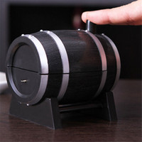 Wholesale Hot Sale Wine Barrel Plastic Automatic Toothpick Box Toothpick Container Toothpick Dispenser GI872403