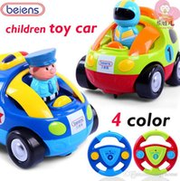 Wholesale cartoon Remote Control Car Mini RC Radio Remote Control Micro Racing Car with flashing music children toy Gift