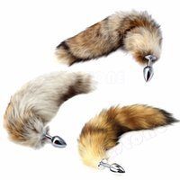 Wholesale New Love Fox Tail Butt Anal Plug Sexy Romance Sex Toy Funny Adult