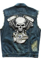Cheap Men MEN VEST Best Lapel Neck Regular rivet embroidery