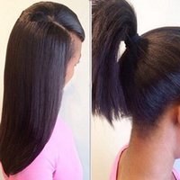 baby hairs hairline - Yaki Straight Side U Part Wigs For Black Women With Baby Hair Malaysian Light Yaki Human Hair Upart Wigs With Natural Hairline