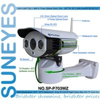 Wholesale SunEyes SP P703WZ Wireless P HD Pan Tilt Zoom IP Network Camera Outdoor Weatherproof PTZ CCTV with Micro SD Slot and P2P