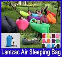 Wholesale LAMZAC AIR SLEEPING BAG Laybag Fast Inflatable Hangout Camping Bed Sofa Lounge Lazy Chair Outdoor Only Need Ten Seconds Colors