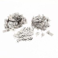 aa conversion - x AA Batteries Positive Negative Conversion Spring Plate Set Silver Tone