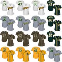 baseball hunter - women Catfish Hunter Dennis Eckersley Sean Doolittle Oakland Athletics Baseball Jersey stitched size S XL