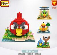 angry diamond - angry bird Building blocks toys birds loz diamond particles cartoon CM Bricks Fight inserted puzzle blocks with box DHL shipping