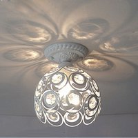 Wholesale Lustre De Cristal Modern LED Crystal Ceiling Light Lamp White Black For Living Room Hallway Lustres De Sala