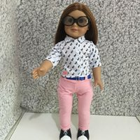 Wholesale Doll Clothes inch cm Doll Outfits Accessories for American Girl Dolls Popular Doll Clothing set T shirt pants