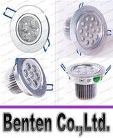 Super brillante 9W / 12W / 15W / 21W / 27W luces de techo / 36W LED del Cree Resessed lámpara regulable CA 85-265V LED abajo se enciende caliente / puro / blanco frío LLFA