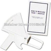 Wholesale Drop shipping Slim Guide Skinfold Caliper Body Fat Measure Mass Fitness Weight Loss body fat caliper