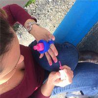 Wholesale 8 Colors Wearable Nail Polish Holder Makes Painting Your Nails A Easier Same As Tweexy Ring Nail Polish Holder