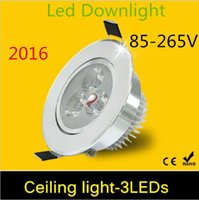 Wholesale Newest Super Bright W Led Downlights Leds Down Light Aluminum Material AC85 v Celing light With Driver For Home Lighting Decoration