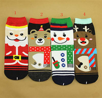 Wholesale New Cotton Winter Socks Christmas Adults Man woman Socks Santa Claus deer snowman Bear D printing socks C1468