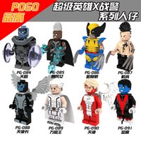best wolverine - 8PCS New Comics Marvel Super Heroes X men Nightcrawler Storm Magneto Wolverine Daken Gifts Minifigures Best Kits Toys