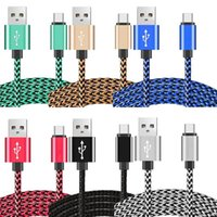 alluminium wire - 2M M M alluminium Alloy Fast Charger braided usb data charger cable for Android Mobile Cell Phone Fast usb Cord Charging Wire