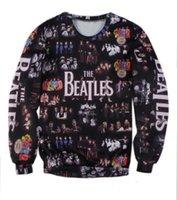 Wholesale 2016 Hot Fashion The Beatles Collage Couples Sweatshirt Women Men T shirt Unisex Full Tee D Print Tops Casual Shirt T shirt