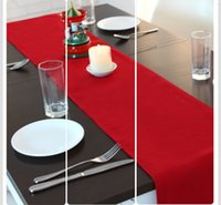 Wholesale Christmas Series Table Runner Red Solid Wedding Decoration Manteles Para Mesa Crochet Table Runner Party Runners Casamento Decoracao