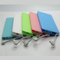 Wholesale Mini mAh Cheap Power Bank Portable usb Charger external battery emergency battery for iPhone6 iPad Samsung cellphones chargers mobile