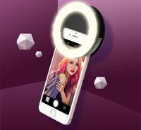 Wholesale 2016 original LED selfie light Flashes ring circle shape spotlight lamplight speedlite for iphone samsung S7