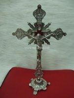 altar crucifix - Large Standing Altar Church Chapel Cross Religious Metal Stand Cross Crucifix Decorative Metal Standing Cross