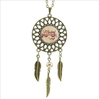 american manage - 2016 Trendy Style Mischief Managed Necklace Mischief Managed Inspired Jewelry Dream Catcher alloy Halloween Necklace DC