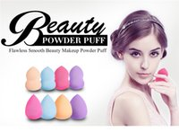 Wholesale 2016 hot Colorful make up sponges Latex Free Applicator Puff Foundation Sponge Tools calabash shape Sponge