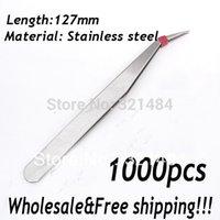 Wholesale piece mm Stainless steel Garment Sewing Nail Jewelry Tools DIY Pliers Tweezers bend head