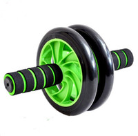 Wholesale No Noise Green Abdominal Wheel Ab Roller With Mat Ab Wheel Roller with Knee Supporter Perfect Fitness AB Wheel