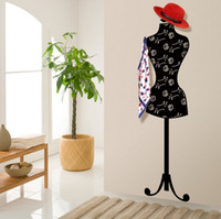 bathroom hanger - Removable Mannequin Wall Mounted Living Room Clothes Hat Jacket Scarf Bag Holder Hanger Wall Rack