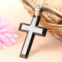 bible toys - Unisex s Men Women Stainless Steel Cross Pendant Black Silver Bible Necklace New Gift QJ