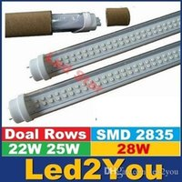 ac double - Double Sides T8 ft led tubes W W W W regular T8 led lights tubes LEDs High Lumens AC V CE UL